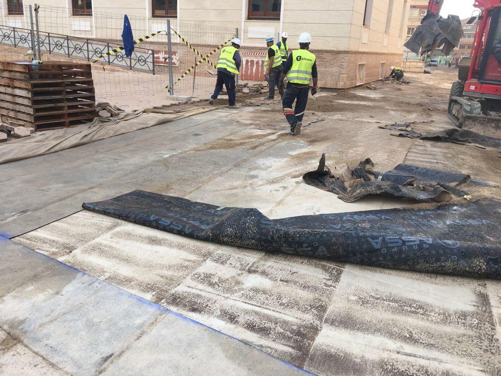 IMG-20210429-WA0001 GONZALEZ SOTO Avanza en la rehabilitación de la plaza del Ayuntamiento de los Alcázares