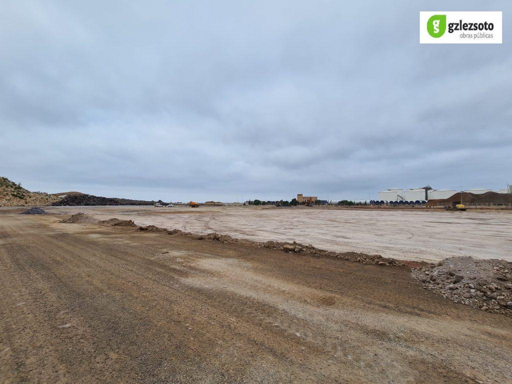 M_TIERRAS1-1024x768 GONZALEZ SOTO inicia los trabajos de movimiento de tierras para la nave de graneles sólidos